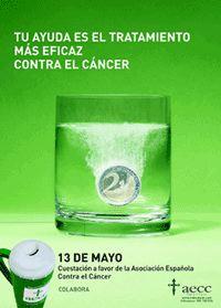 Mesa de cuestación a favor de la Asociación Española Contra el Cáncer